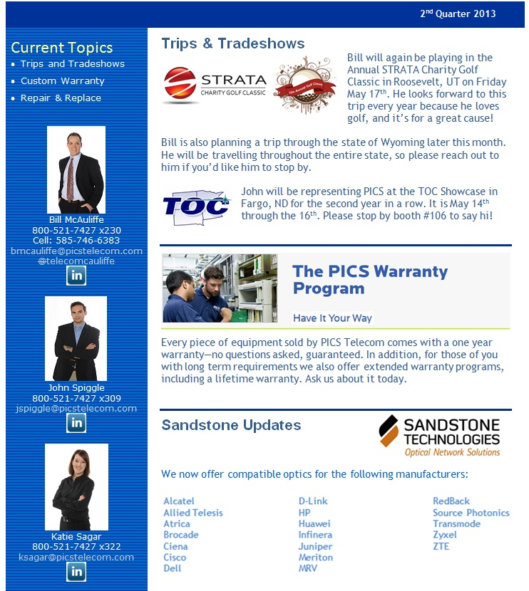 PICS Newsletter Header 2Q13 First Page